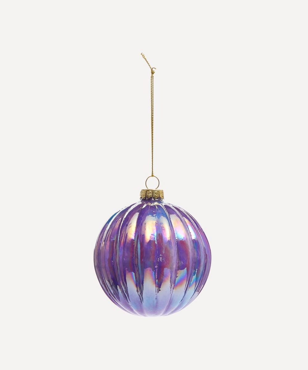 Unspecified - Iridescent Ridged Glass Bauble