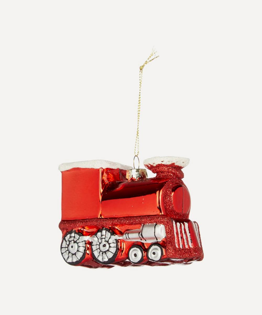 Unspecified - Glass Red Train Decoration