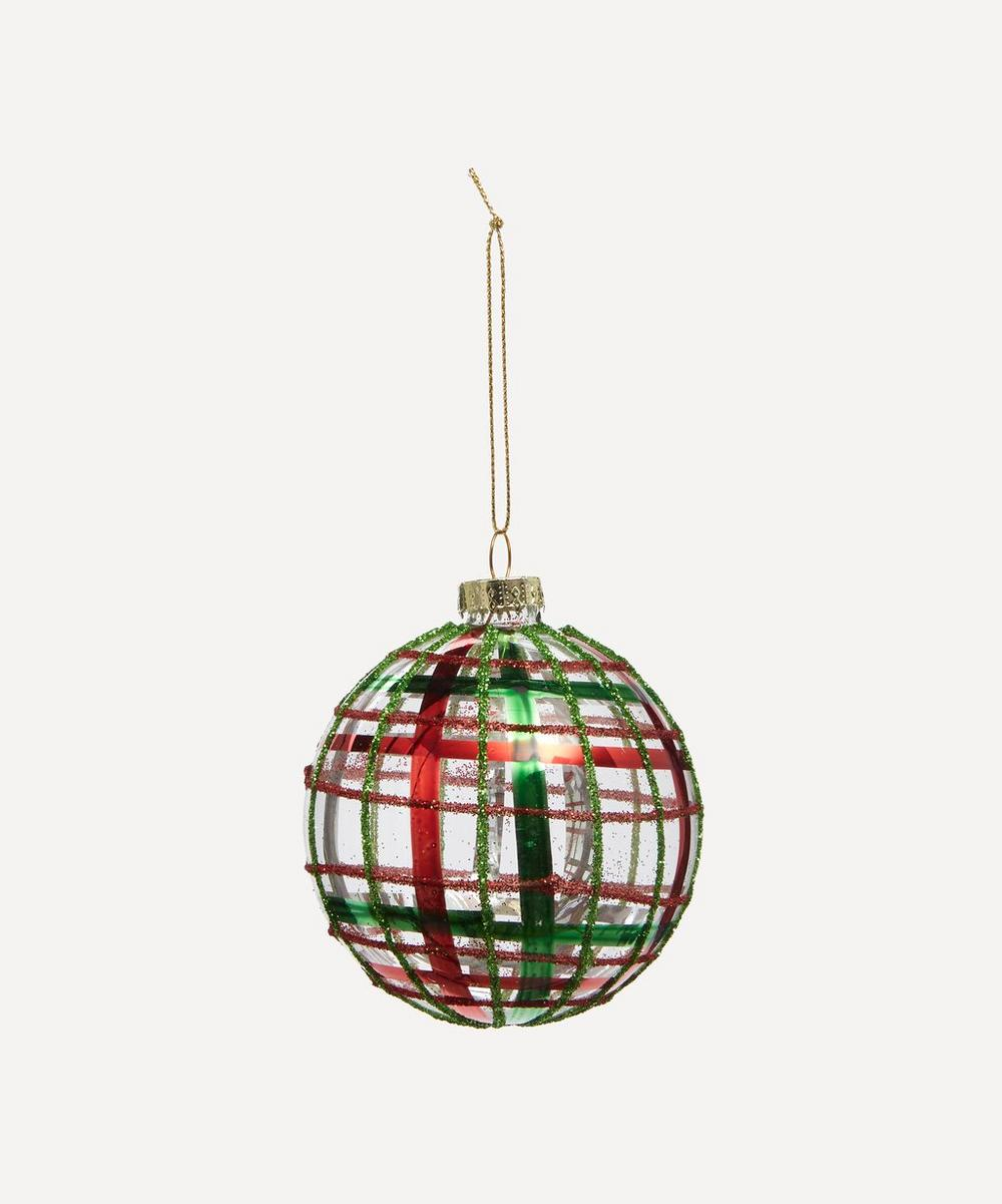 Unspecified - Glass Tartan Bauble