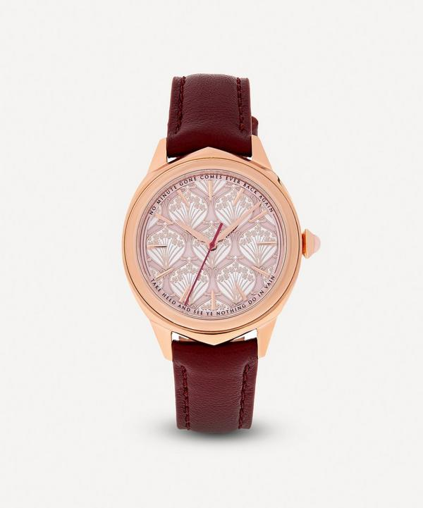 Liberty - Lasenby Iphis Rose Gold-Plated Leather Strap Watch