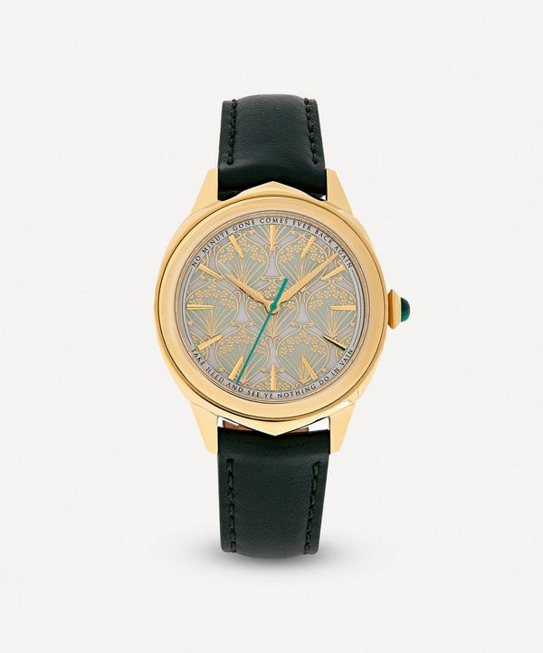 Liberty - Lasenby Iphis Gold-Plated Leather Strap Watch