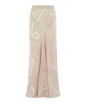Crepe de Chine Patchwork Skirt