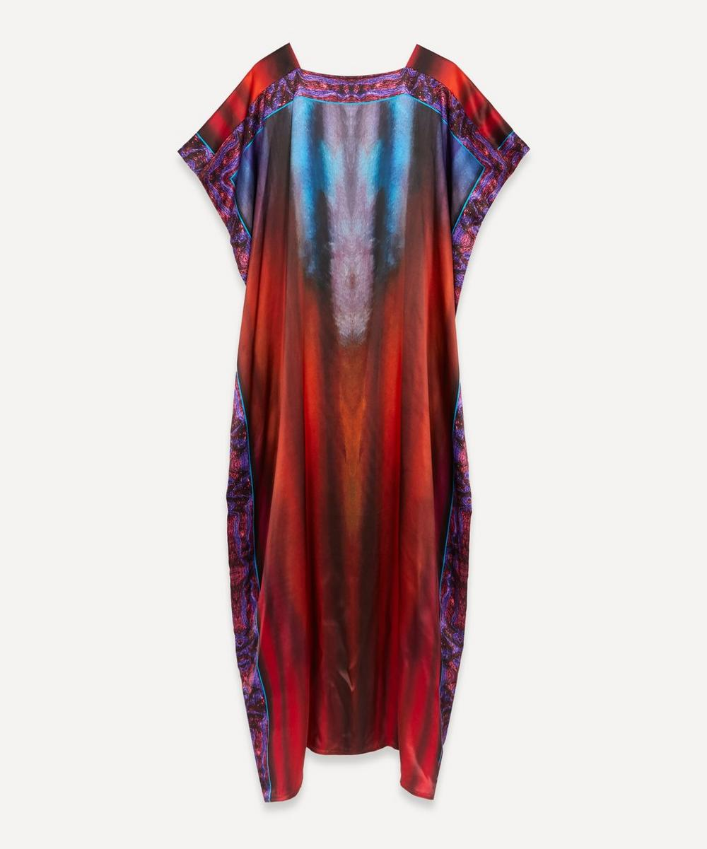 Charles and Patricia Lester - Square-Neck Silk Kaftan Dress