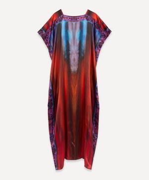 Square-Neck Silk Kaftan Dress