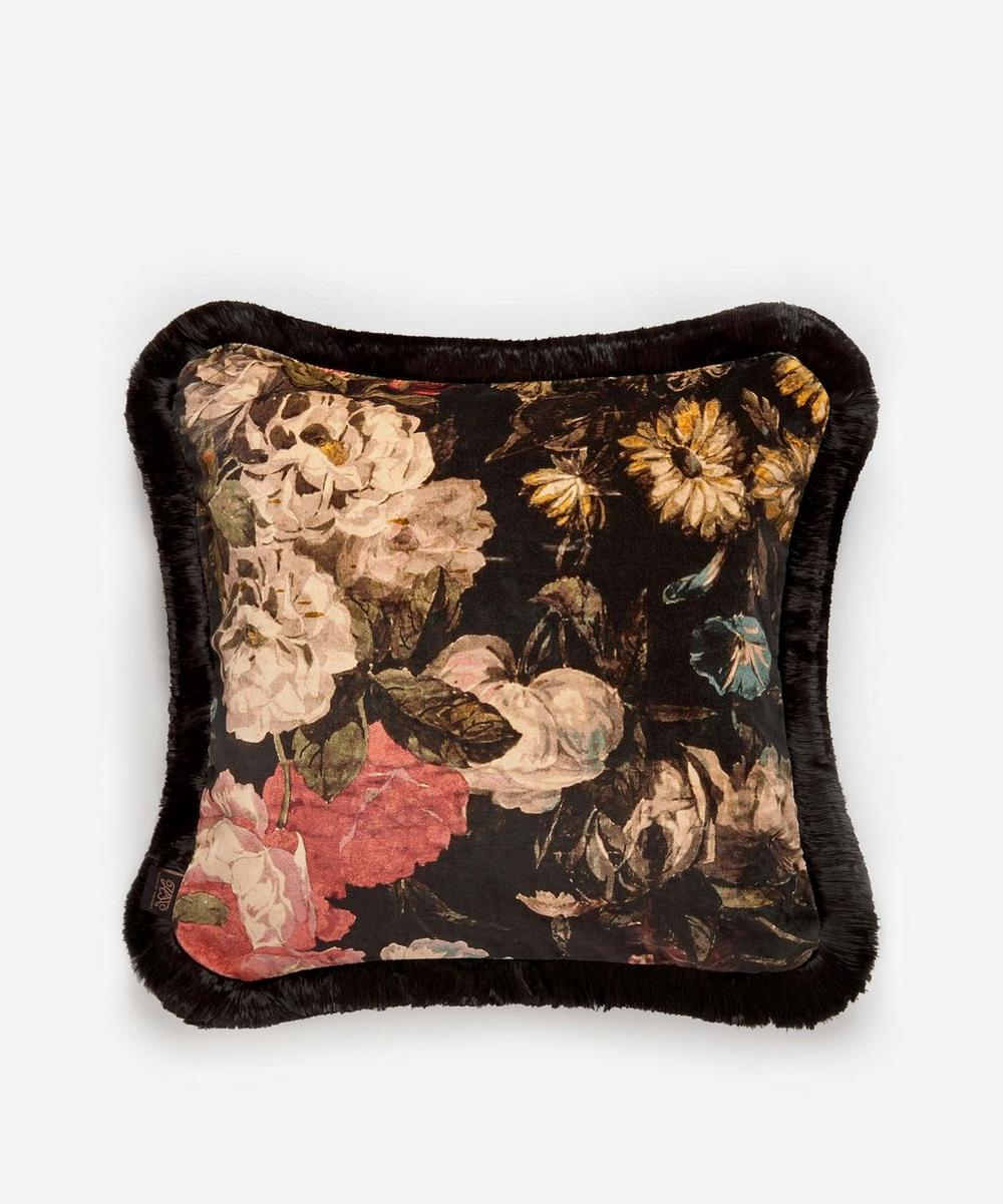 House of Hackney - Midnight Garden Medium Fringed Cushion