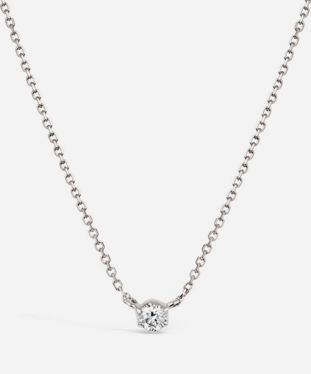 Dinny Hall - 18ct White Gold Elyhara Small Diamond Pendant Necklace