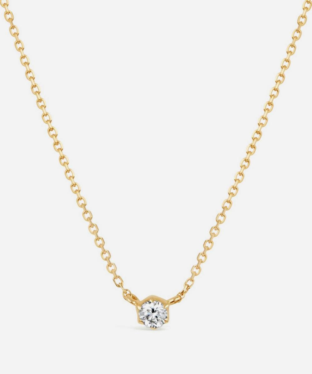 Dinny Hall - 18ct Gold Elyhara Small Diamond Pendant Necklace