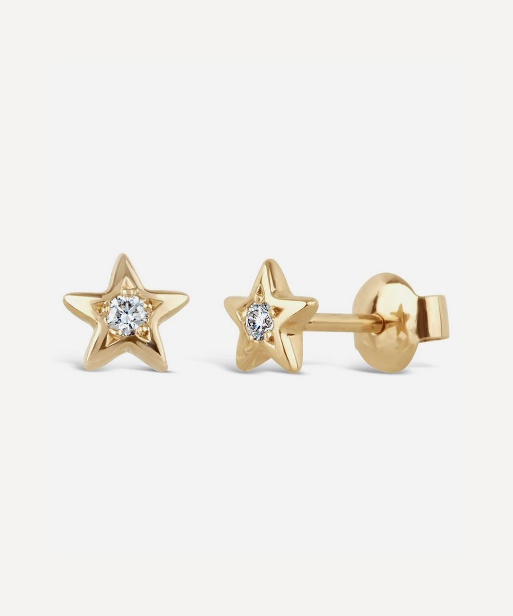 Dinny Hall - Gold Bijou Diamond Star Stud Earrings