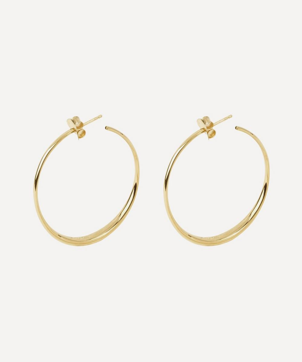 Dinny Hall - 10ct Gold Signature Medium Hoop Earrings