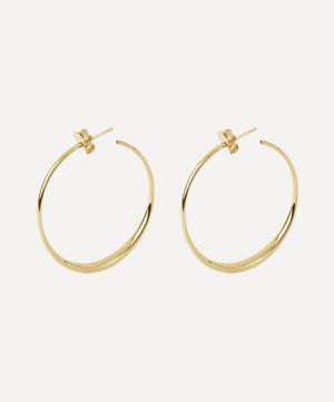 10ct Gold Signature Medium Hoop Earrings