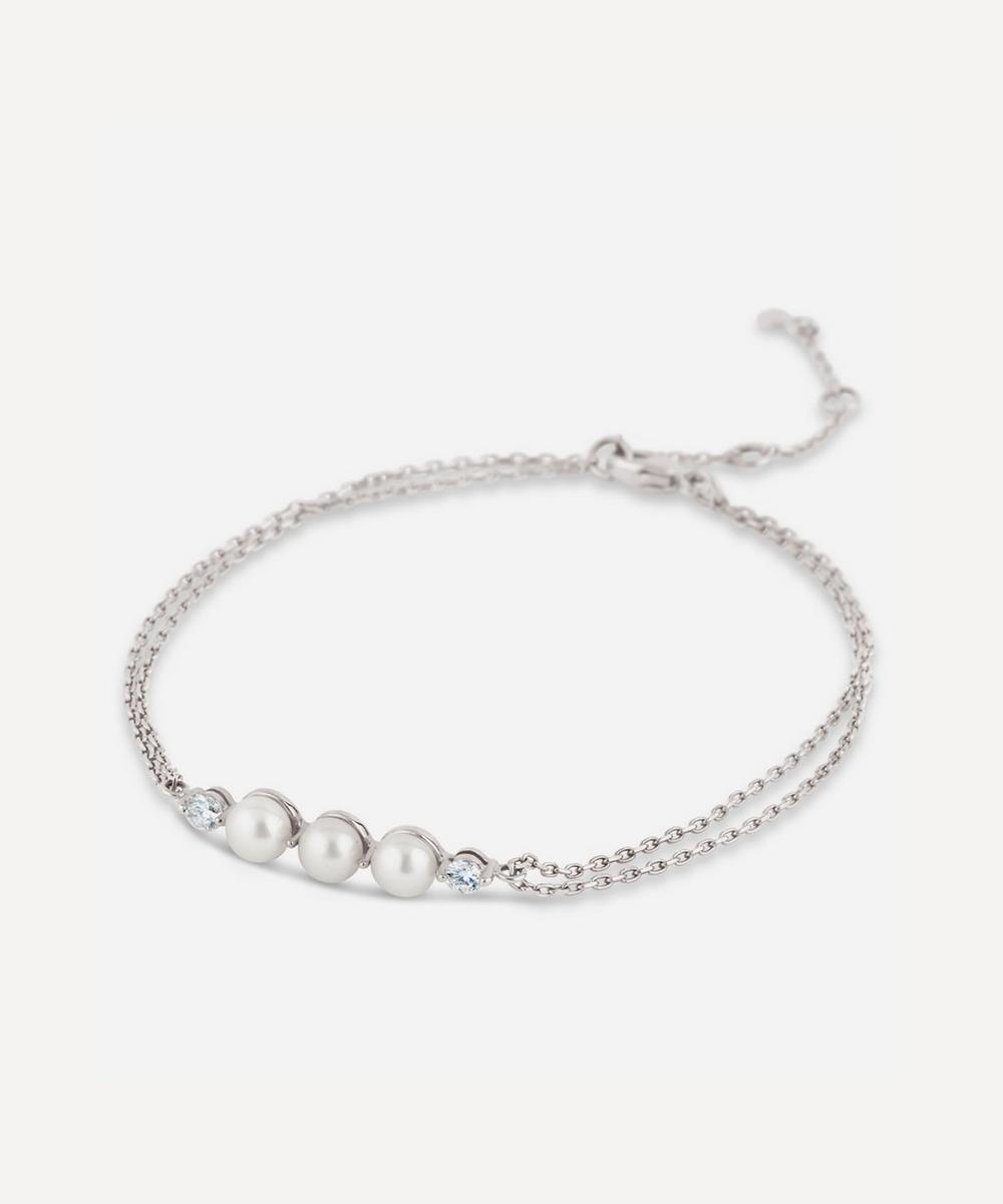 Dinny Hall - White Gold Shuga Pearl and Diamond Bracelet