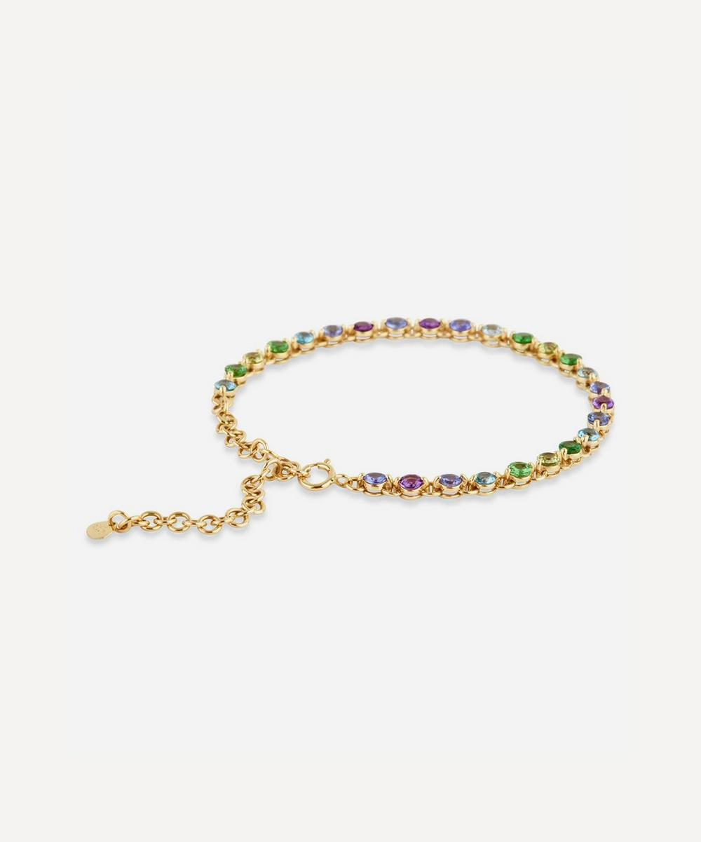 Dinny Hall - Gold Shuga Multi-Stone Ombre Tennis Bracelet