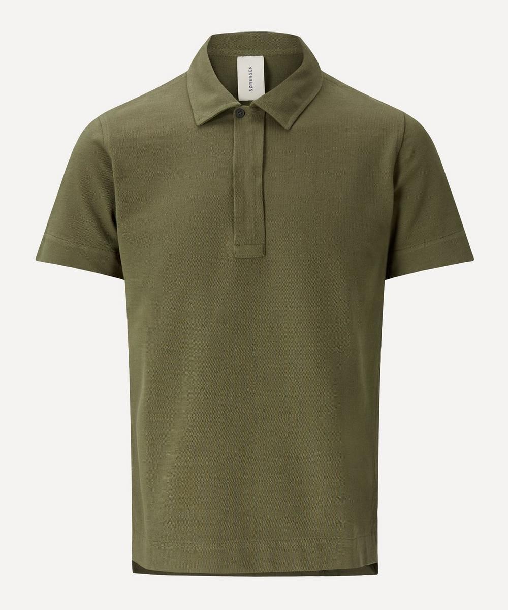 SØRENSEN - Butcher Cotton Pique Polo Shirt