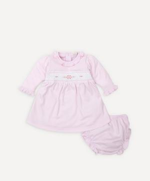 Fall Medley Hand-Smocked Dress Set 0-18 Months