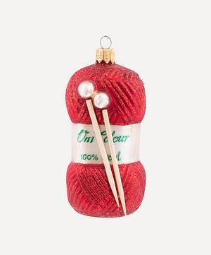 Yarn and Knitting Needles Decoration