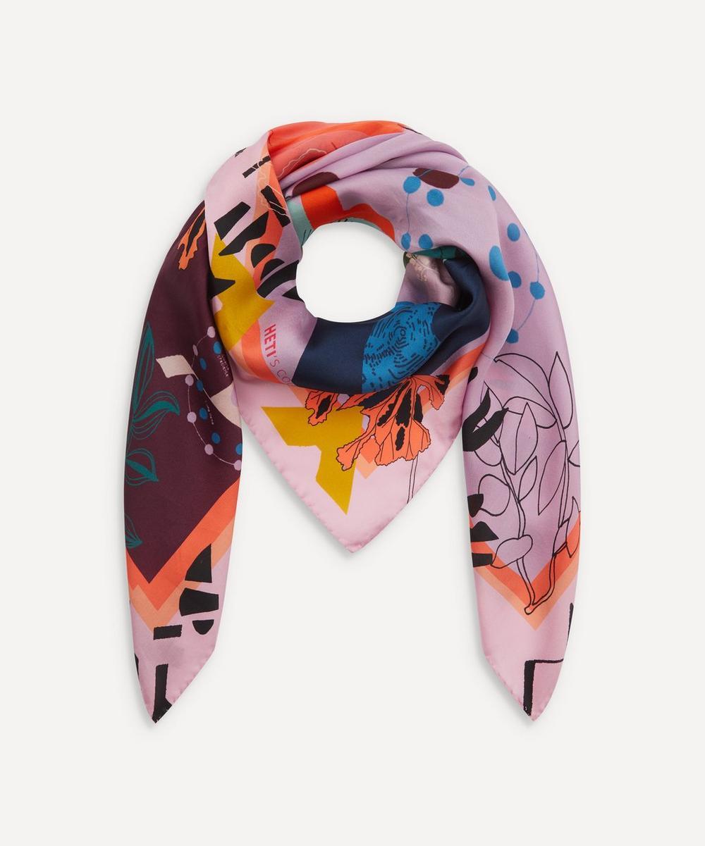 Heti's Colours - Leah Silk Square Scarf