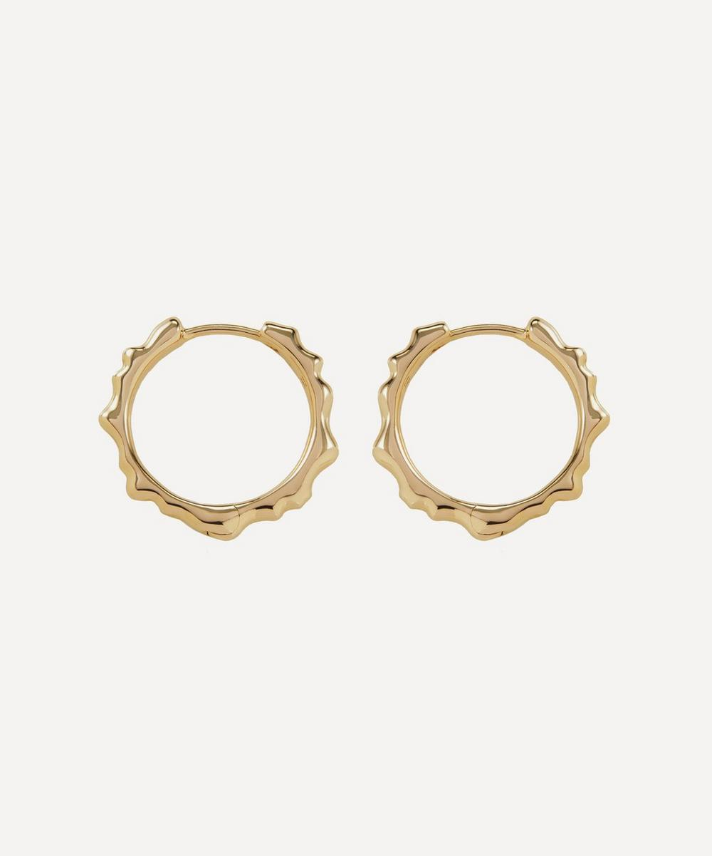 Monica Vinader - Gold Plated Vermeil Silver Siren Muse Small Hoop Earrings