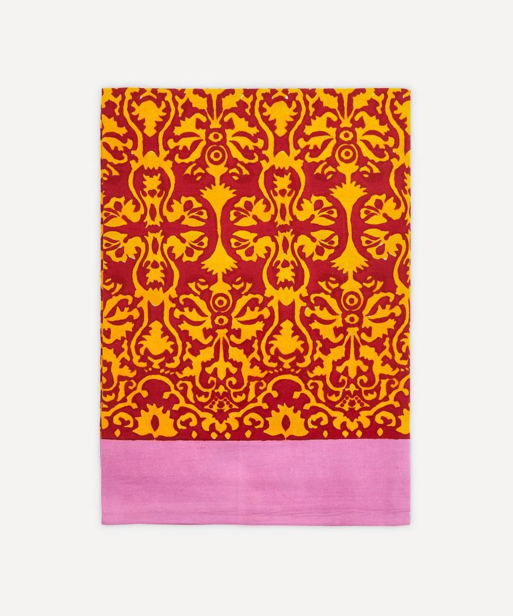 Lisa Corti - Large Damask Maroon Cinnamon Tablecloth