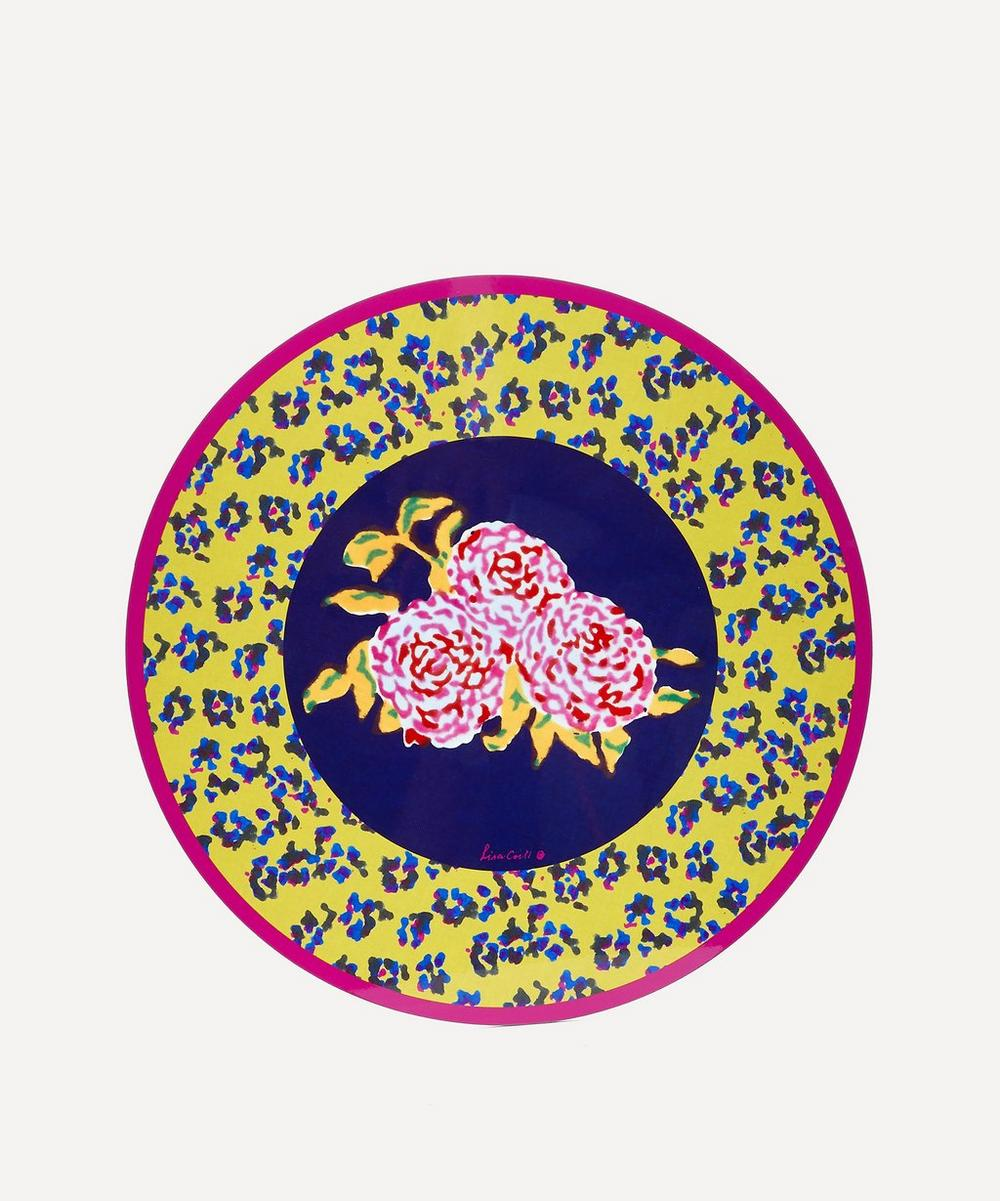 Lisa Corti - Leopard Flower Round Placemat