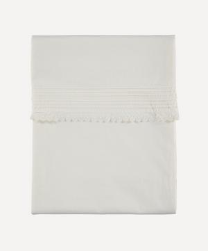 Pin Tuck Embroidered Single Duvet Cover