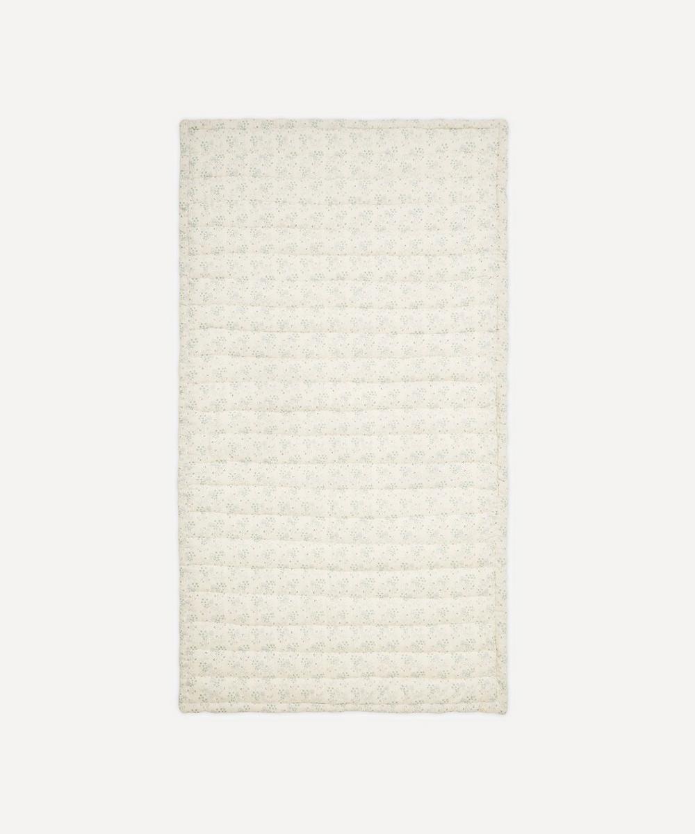 Camomile London - Minako Cornflower Floral Hand Quilted Blanket