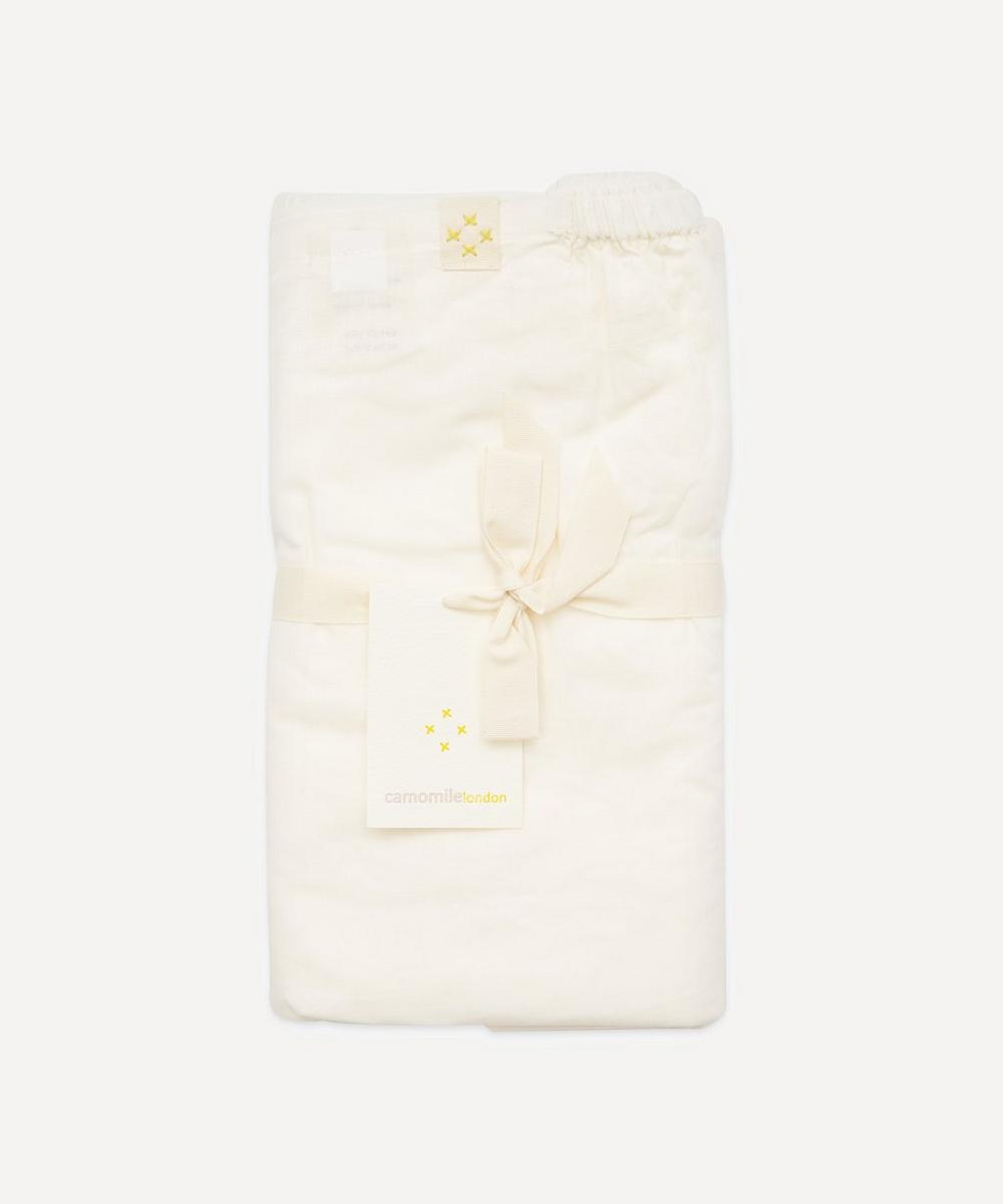 Camomile London - Off-White Single Fitted Sheet
