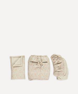 Minako Golden Moses Basket Bedding Four-Piece Bed Set