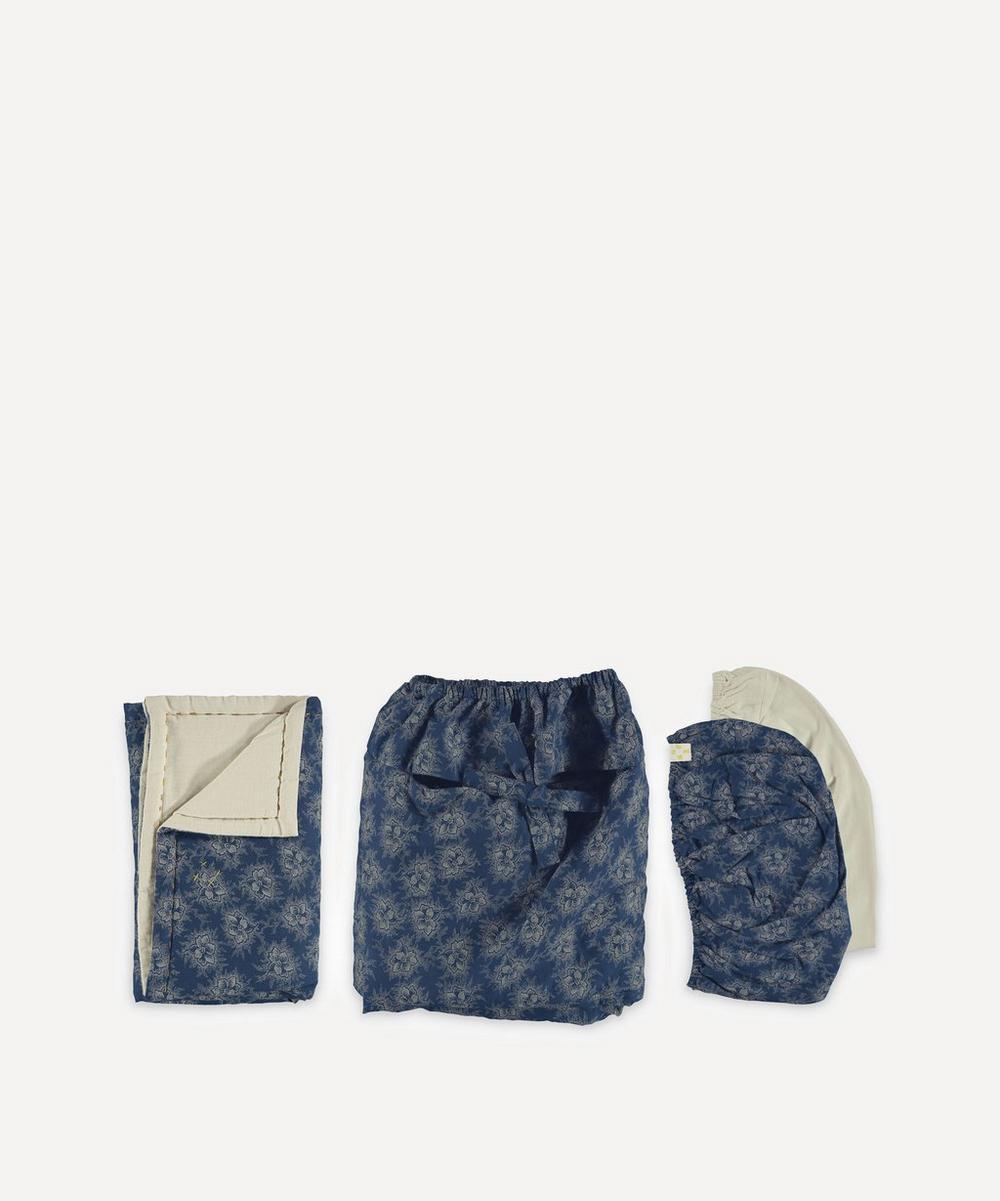 Camomile London - Spot Floral Four-Piece Basket Bedding Bed Set