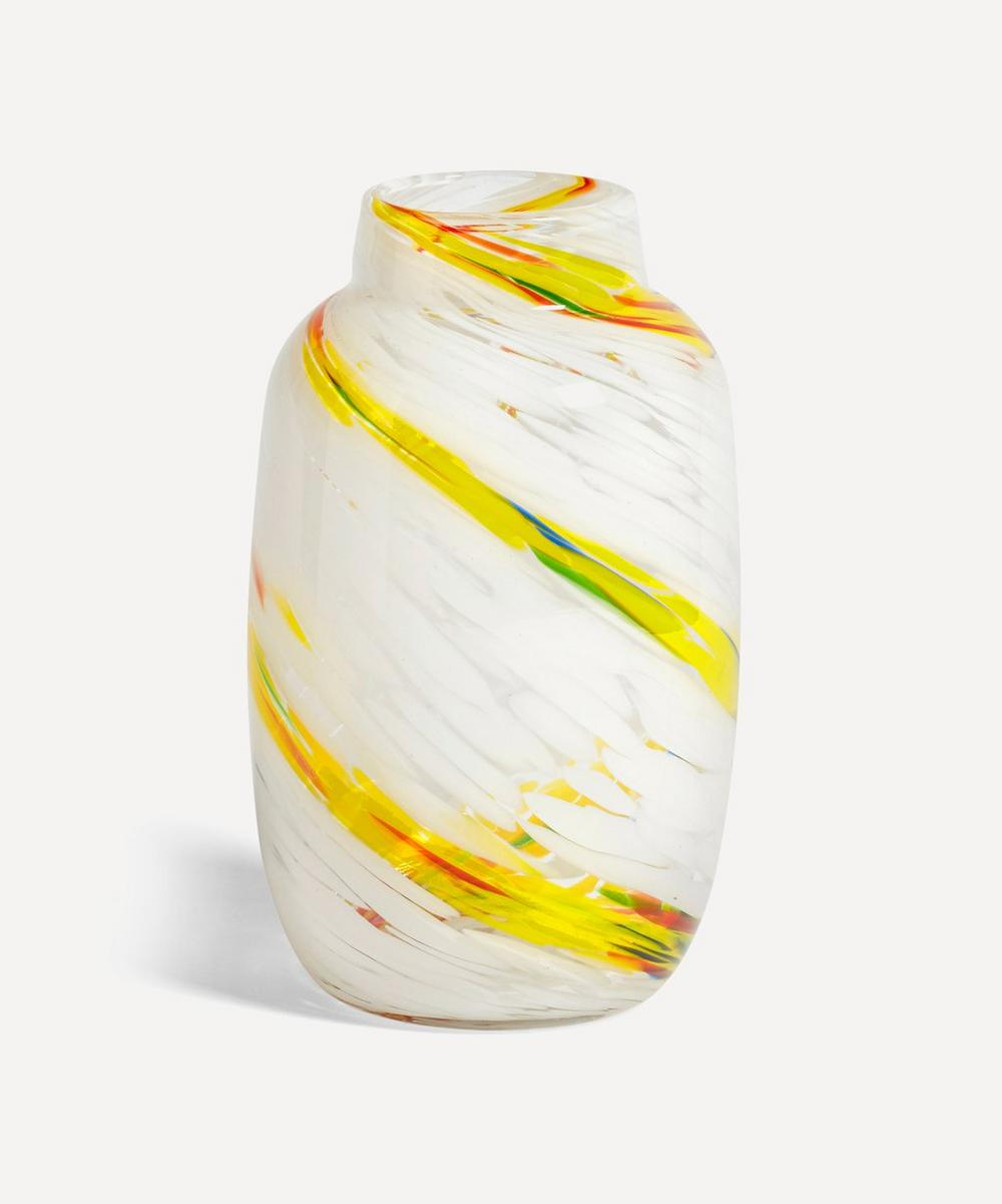 Hay - Lemon Swirl Glass Splash Vase