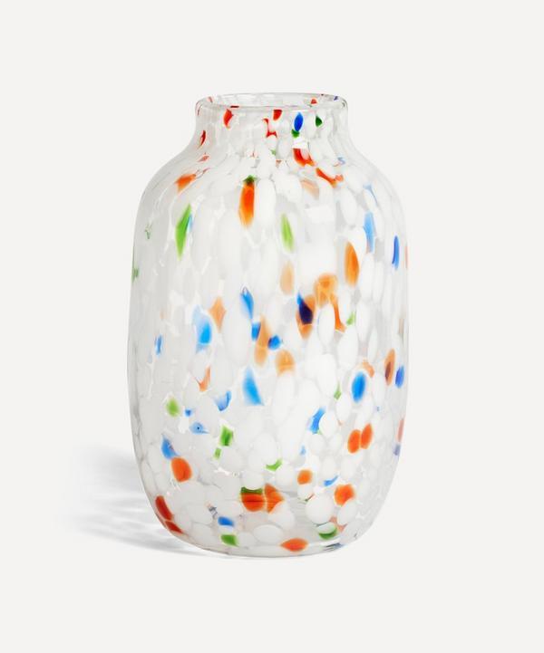 Hay - White Dot Glass Splash Vase