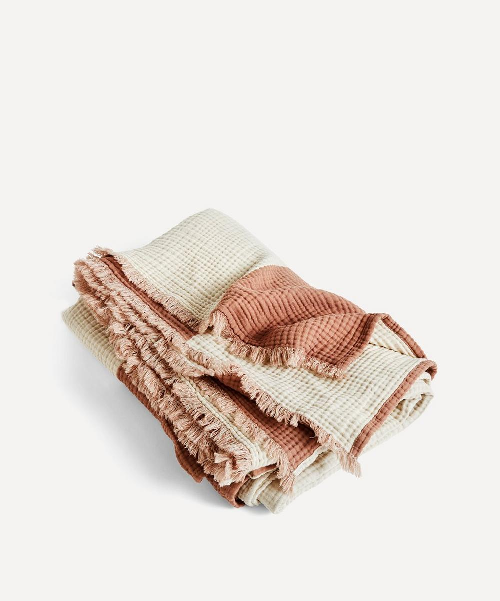 Hay - Crinkle Stripe Plaid Blanket