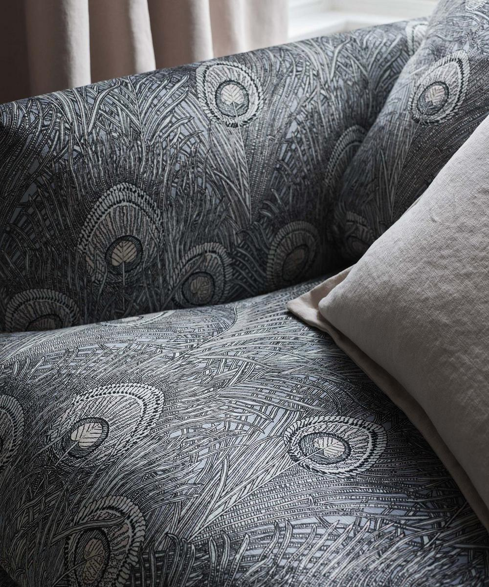Liberty Interiors - Hera Feather Vintage Velvet in Pewter