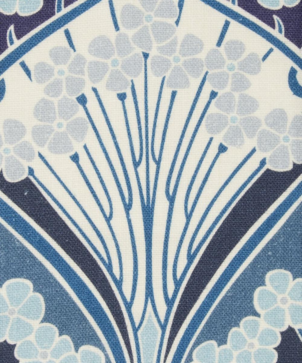 Liberty Fabrics Interiors - Ianthe Bloom Multi Ladbroke Linen in Lapis