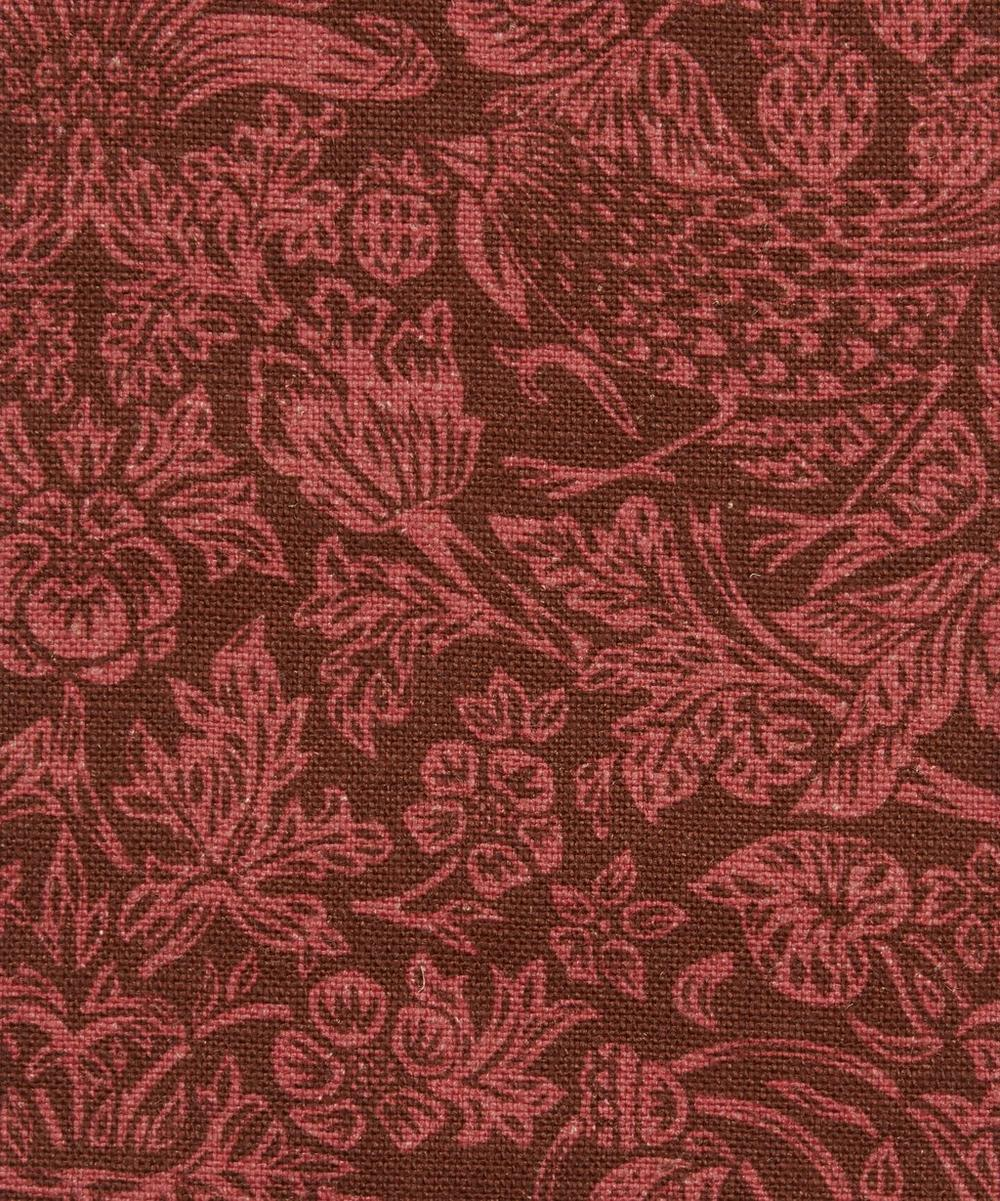 Liberty Fabrics Interiors - Strawberry Meadowfield Ladbroke Linen in Lacquer