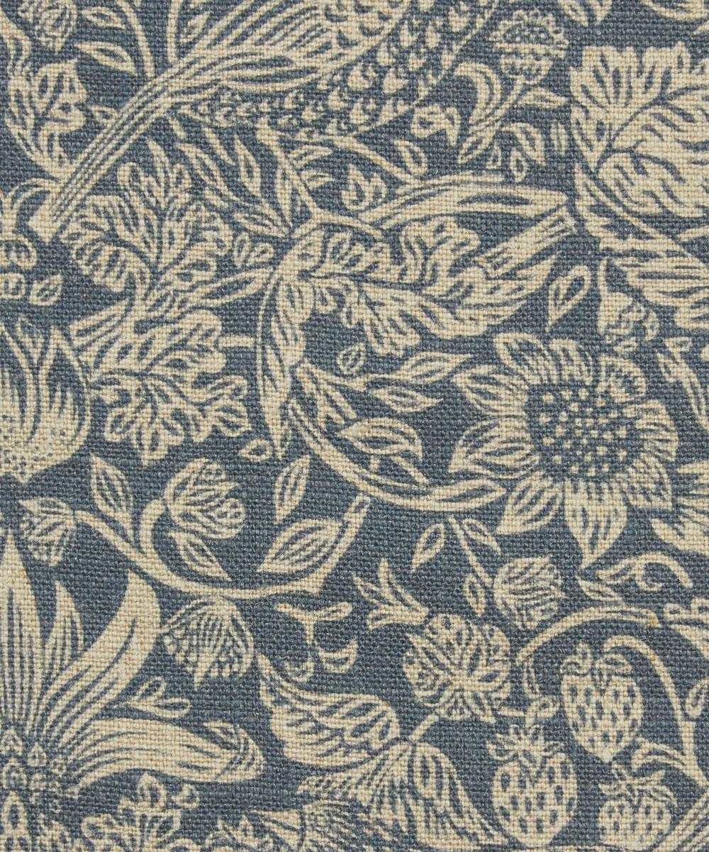 Liberty Fabrics Interiors - Strawberry Meadowfield Ladbroke Linen in Lapis