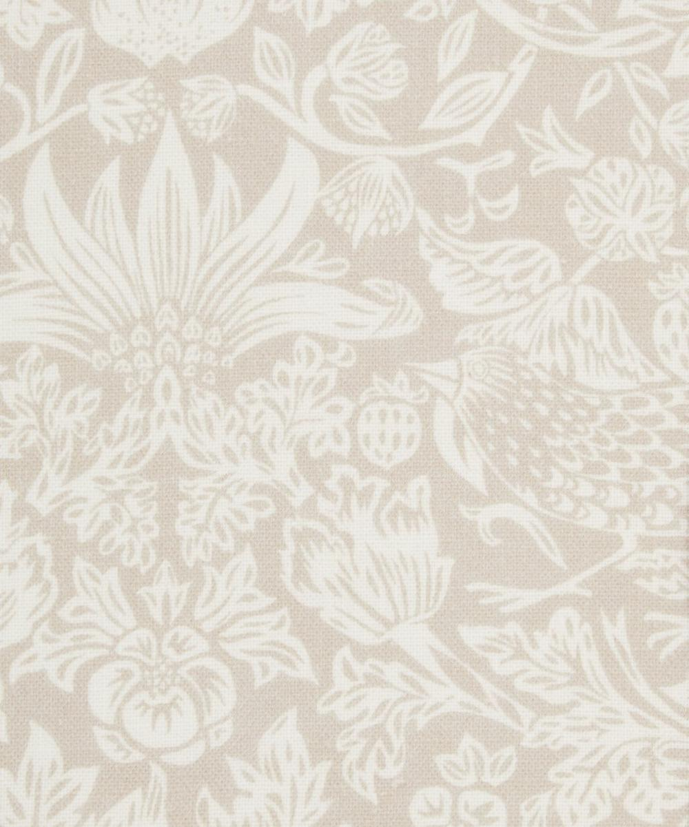 Liberty Fabrics Interiors - Strawberry Meadowfield Chiltern Linen in Pewter Plaster Pink