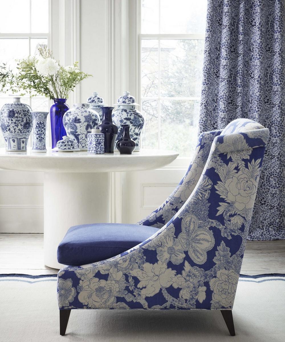Liberty Fabrics Interiors - Zennor Arbour Ladbroke Linen in Lapis