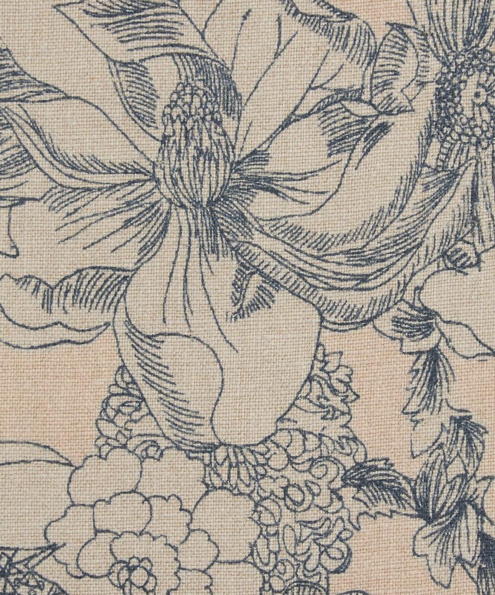 Liberty Fabrics Interiors - Zennor Arbour Ladbroke Linen in Pewter Plaster Pink