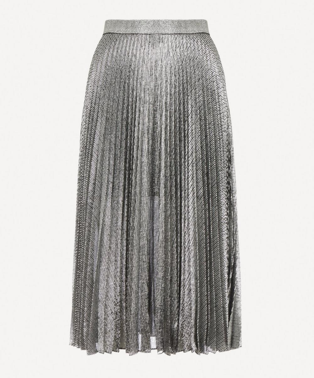 Christopher Kane - Lamé Mesh Pleated Skirt