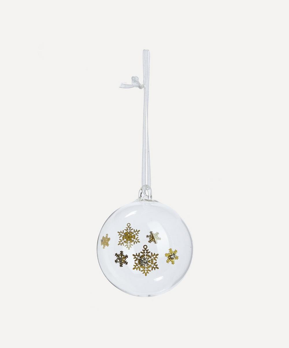 Unspecified - Snowflake Diamante Bauble Bauble