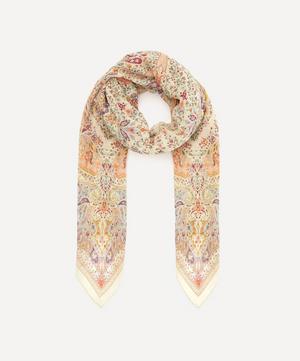 Floral Paisley Silk Crépon Scarf
