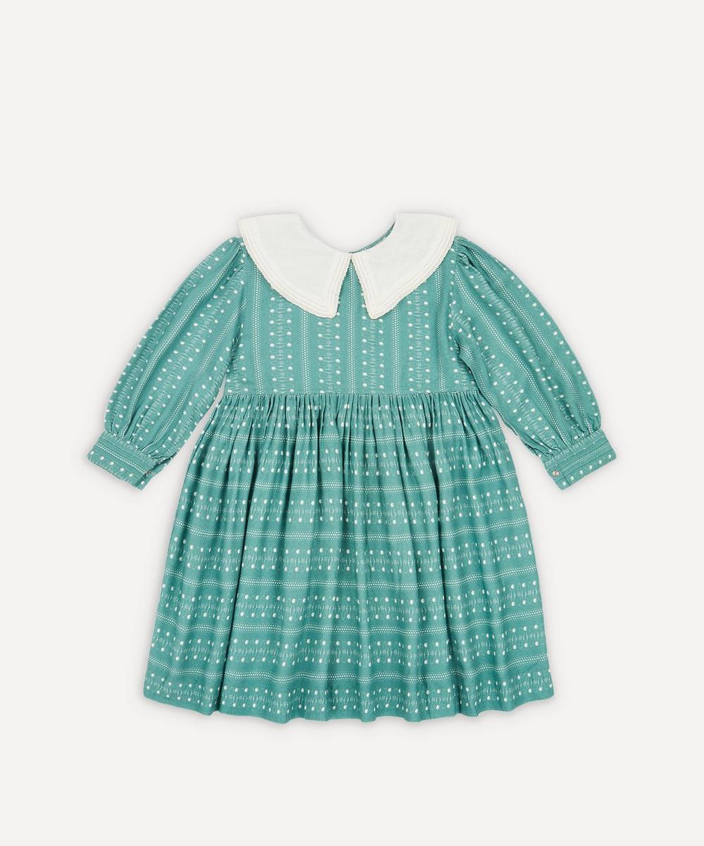 Caramel - Buzzard Dotty Print Dress 3-6 Years