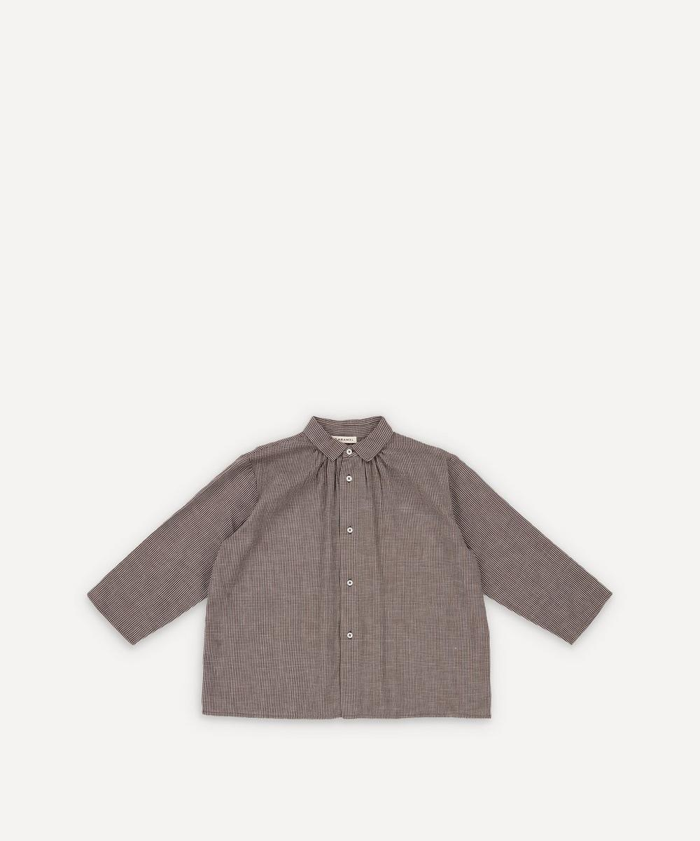 Caramel - Raven Checked Cotton Shirt 8 Years