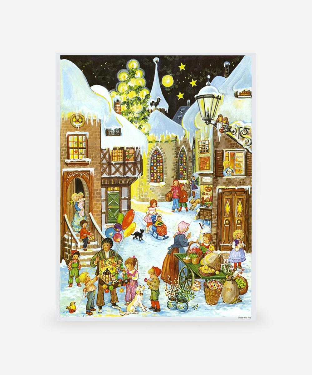 Unspecified - Town Snowscene Advent Calendar
