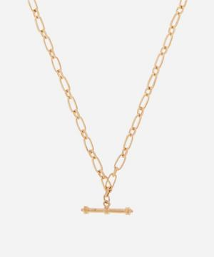 Gold-Plated 1980s Toggle Chain Necklace