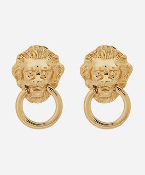 Gold-Plated 1980s Kenneth Jay Lane Door Knocker Clip-On Earrings