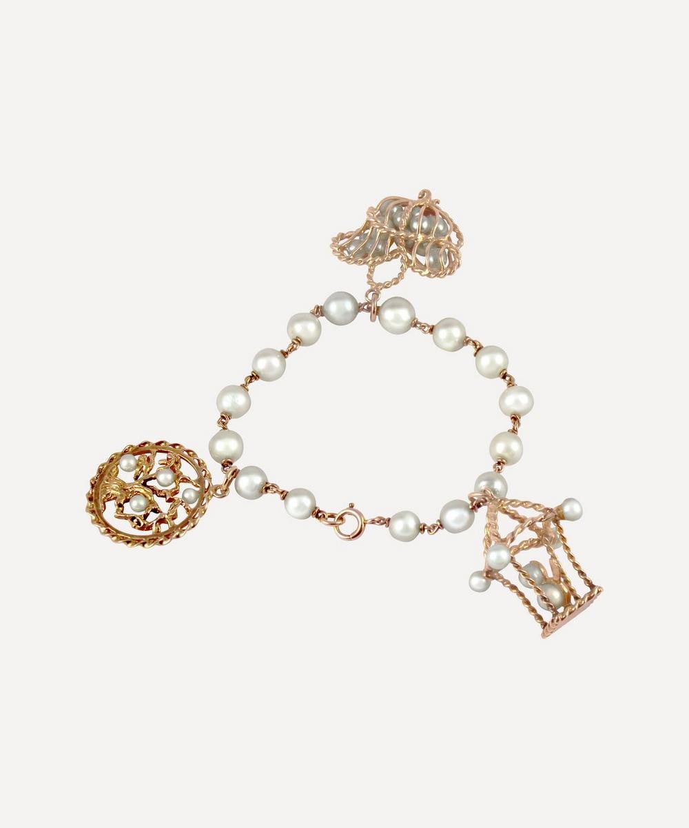 Kojis - Gold Pearl Charm Bracelet