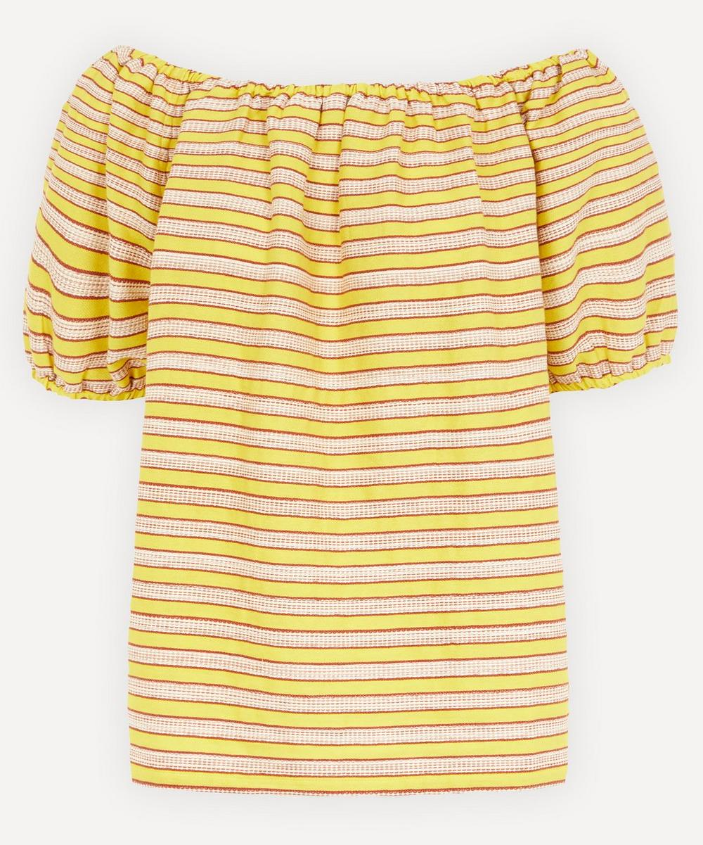 Ace and Jig - Gelato Puff Sleeve Striped Top