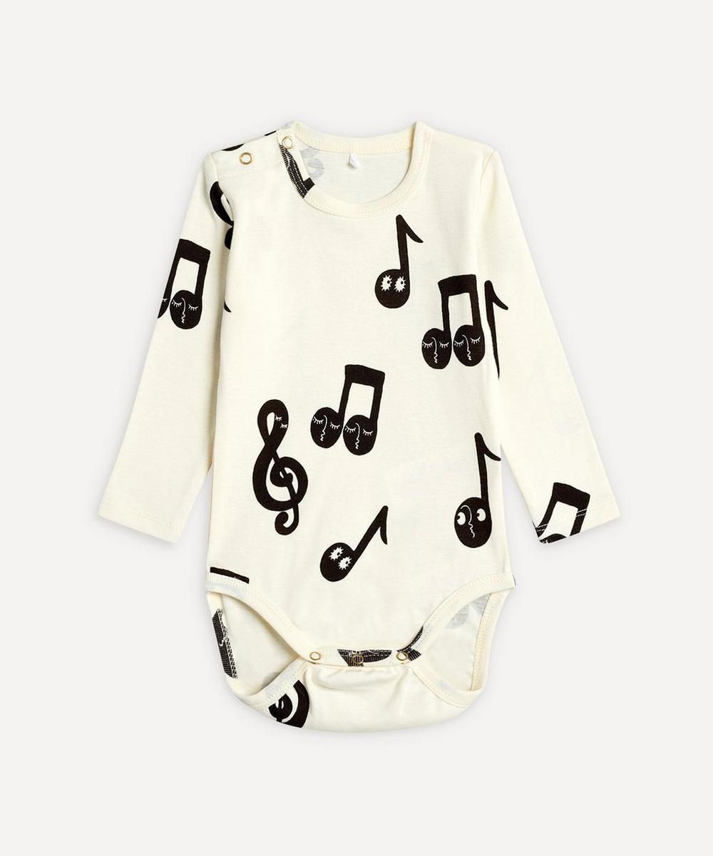 Mini Rodini - Notes Long-Sleeved Body 3-18 Months