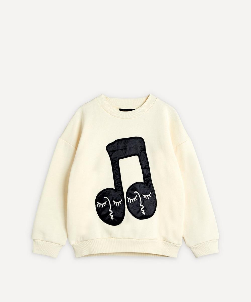 Mini Rodini - Notes Baby Patch Sweatshirt 3-18 Months